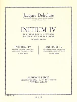 Jacques Delécluse - Initium 4 - Partition - di-arezzo.de