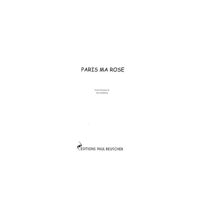 Paris ma Rose - Serge Reggiani - Partition - laflutedepan.com