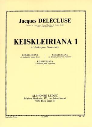 Jacques Delécluse - Keiskleiriana Band 1 - 13 Studien - Partition - di-arezzo.de