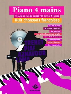 Huit Chansons Françaises Partition Piano - laflutedepan