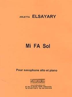 Mi Fa Sol Arletta Elsayary Partition Saxophone - laflutedepan