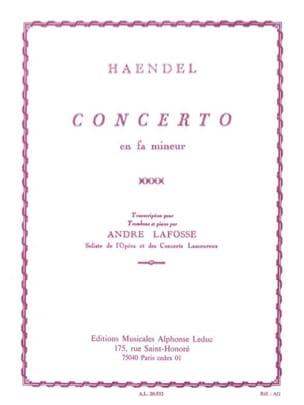 Concerto En Fa Mineur HAENDEL Partition Trombone - laflutedepan