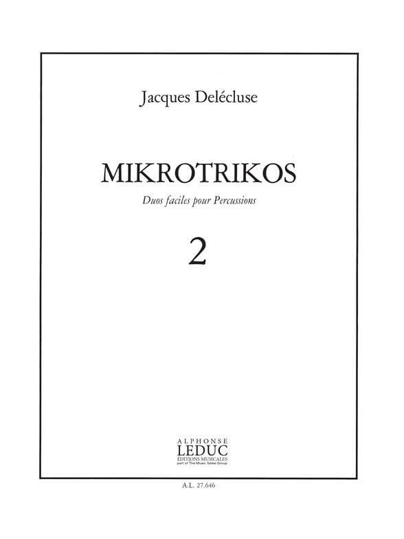 Mikrotrikos Volume 2 - Jacques Delécluse - laflutedepan.com