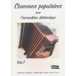 Chansons Populaires Pour L' Accordéon Diatonique Volume 1 laflutedepan