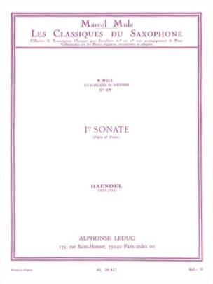 Ier Sonate HAENDEL Partition Saxophone - laflutedepan