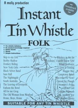 Instant Tin Whistle Folk Partition Flûte traversière - laflutedepan