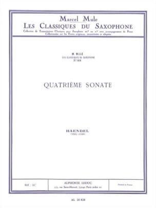 4e sonate flûte - HAENDEL - Partition - Saxophone - laflutedepan.com
