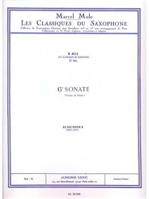 6e sonate violon HAENDEL Partition Saxophone - laflutedepan