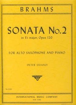 Sonate N° 2 En Mib Majeur Opus 120 BRAHMS Partition laflutedepan