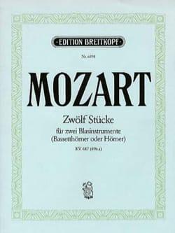 Zwölf Stücke pour 2 cors KV 487 496a - MOZART - laflutedepan.com