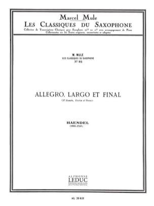 Allegro, largo et final 3e sonate violon et piano HAENDEL laflutedepan