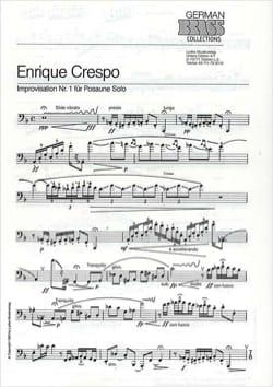 Improvisation Nr. 1 Enrique Crespo Partition Trombone - laflutedepan
