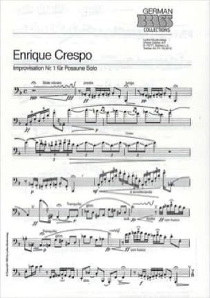 Improvisation Nr. 1 - Enrique Crespo - Partition - laflutedepan.com