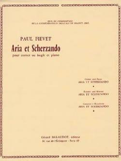Aria et Scherzando Paul Fiévet Partition Trompette - laflutedepan
