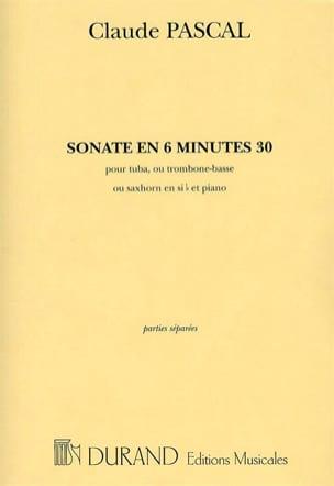 Sonate En 6 Minutes 30 Claude Pascal Partition Tuba - laflutedepan