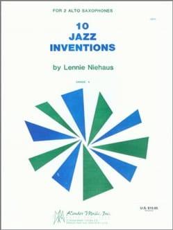 10 Jazz Inventions Lennie Niehaus Partition Saxophone - laflutedepan