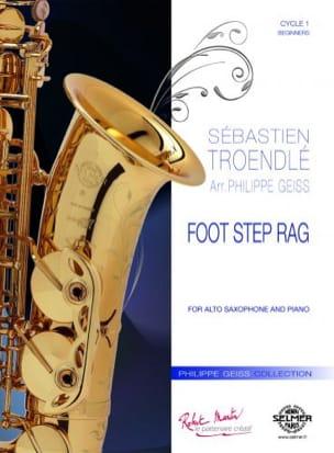 Foot Step Rag Sébastien Troendlé Partition Saxophone - laflutedepan