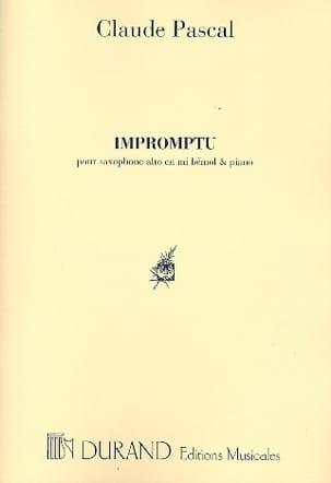 Impromptu Claude Pascal Partition Saxophone - laflutedepan