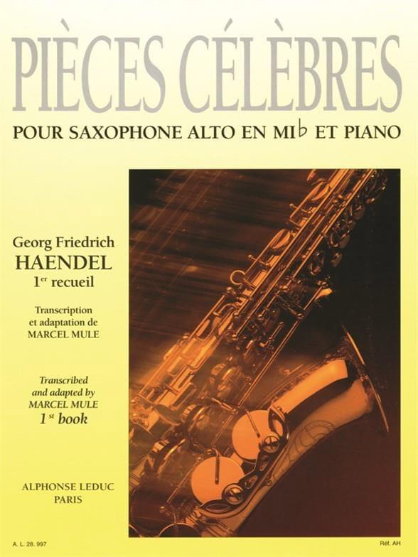 Pièces Célèbres Volume 1 - HAENDEL - Partition - laflutedepan.com