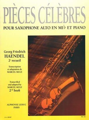 Pièces Célèbres Volume 2 HAENDEL Partition Saxophone - laflutedepan