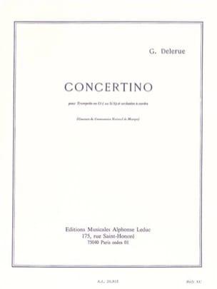Concertino Georges Delerue Partition Trompette - laflutedepan