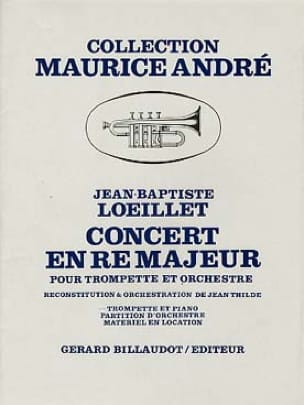 Concert En Ré Majeur - LOEILLET - Partition - laflutedepan.com