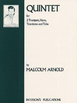 Quintet Parties Malcolm Arnold Partition laflutedepan