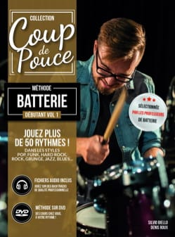 Méthode Batterie Débutant Volume 1 COUP DE POUCE laflutedepan