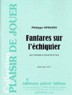 Fanfares Sur L' Echiquier Philippe Oprandi Partition laflutedepan