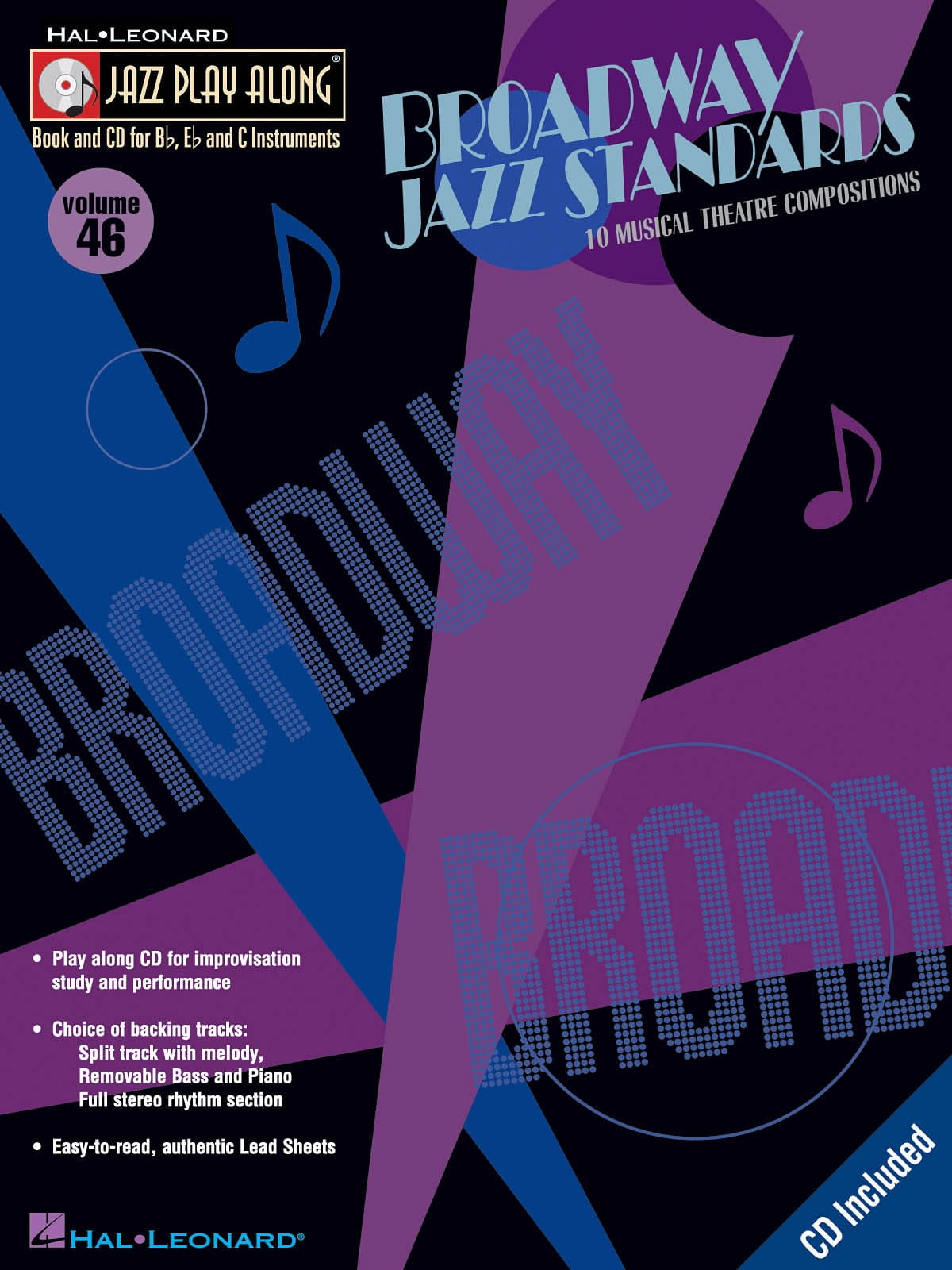 Jazz play-along volume 46 - Broadway Jazz Standards - laflutedepan.com