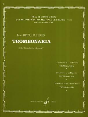 Trombonaria Jean Brouquières Partition Trombone - laflutedepan