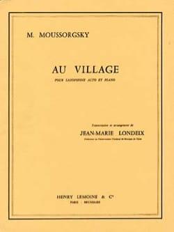 Au village MOUSSORGSKI Partition Saxophone - laflutedepan