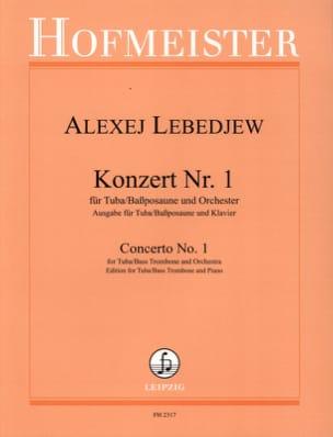 Konzert N° 1 Alexej Lebedjew Partition Tuba - laflutedepan