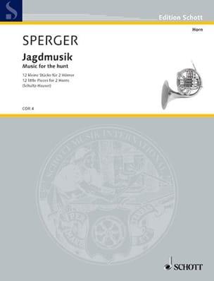 Jagdmusik Johann Matthias Sperger Partition Cor - laflutedepan
