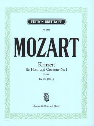 Concerto pour cor n° 1 D-Dur KV 412 386b MOZART Partition laflutedepan