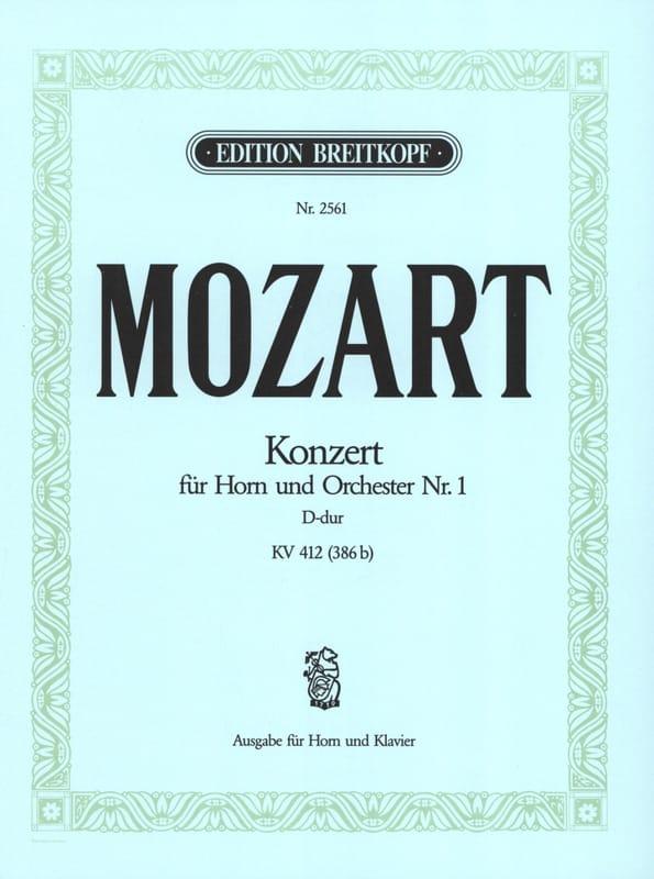 Concerto pour cor n° 1 D-Dur KV 412 386b - MOZART - laflutedepan.com
