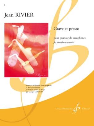 Grave Et Presto Jean Rivier Partition Saxophone - laflutedepan