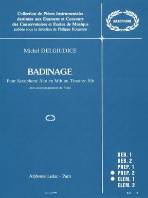 Badinage Michel Del Giudice Partition Saxophone - laflutedepan