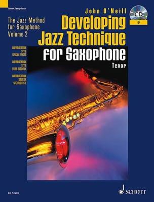 Developing Jazz Technique For Bb Saxophone Neill John O' laflutedepan