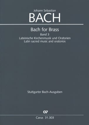 Bach for brass Band 3 - Latin Sacred Music And Oratorios laflutedepan