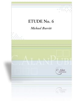 Etude No 6 Michael Burritt Partition Marimba - laflutedepan