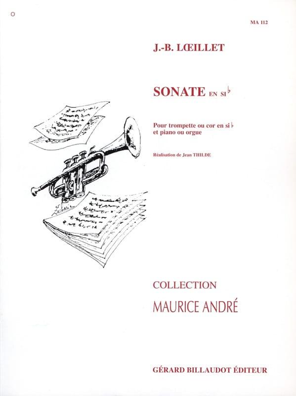 Sonate en sib - LOEILLET - Partition - Trompette - laflutedepan.com