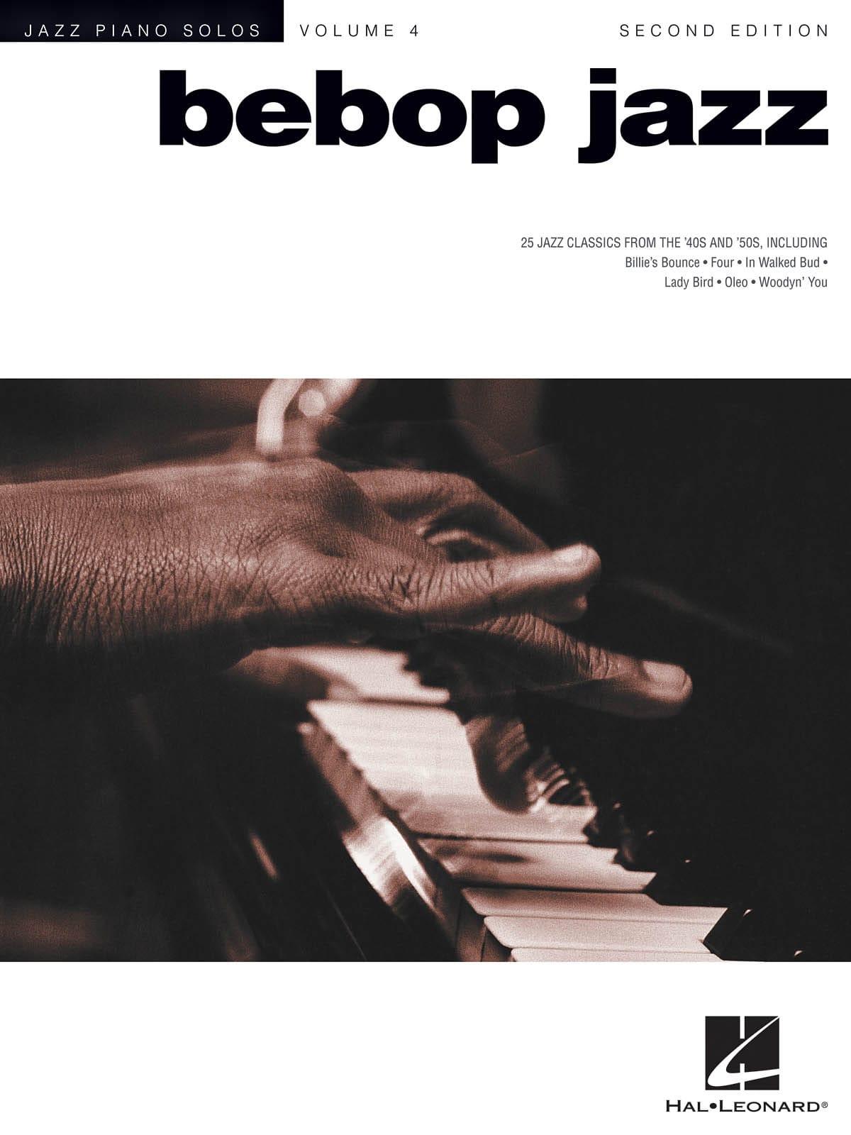 Jazz Piano Solos Series Volume 4 - Bebop Jazz - laflutedepan.com