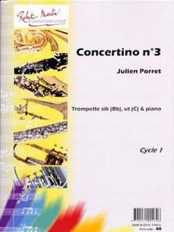Concertino N° 3 Julien Porret Partition Trompette - laflutedepan
