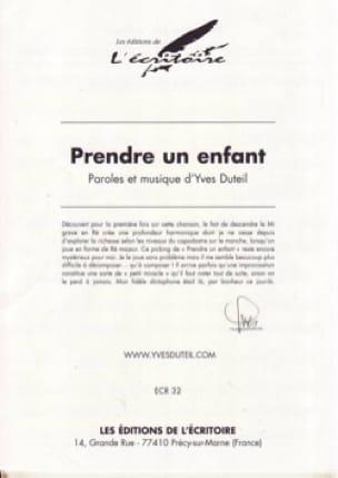 Prendre Un Enfant - Yves Duteil - Partition - laflutedepan.com