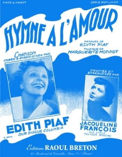Edith Piaf - Ode to love - Partition - di-arezzo.co.uk
