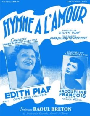 Hymne A L'amour - Edith Piaf - Partition - laflutedepan.be