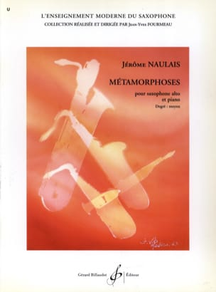 Métamorphoses Jérôme Naulais Partition Saxophone - laflutedepan