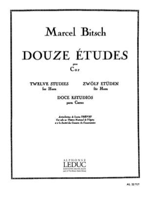 12 Etudes Marcel Bitsch Partition Cor - laflutedepan