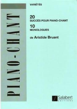 20 Succès, 10 Monologues Aristide Bruant Partition laflutedepan